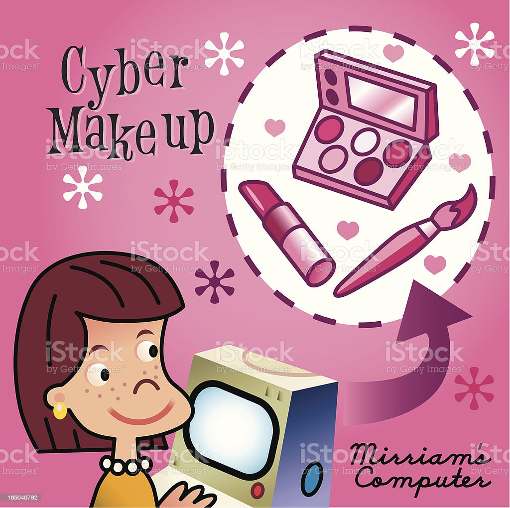 Cyber Make-Up royalty-free stock vector art