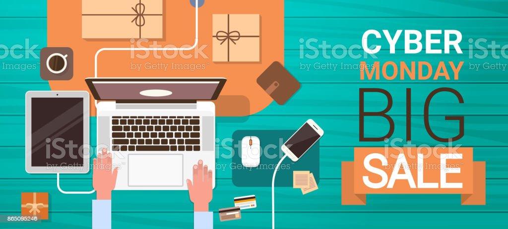 ラップトップ コンピューターに入力オンライン ショッピングのバナー画角