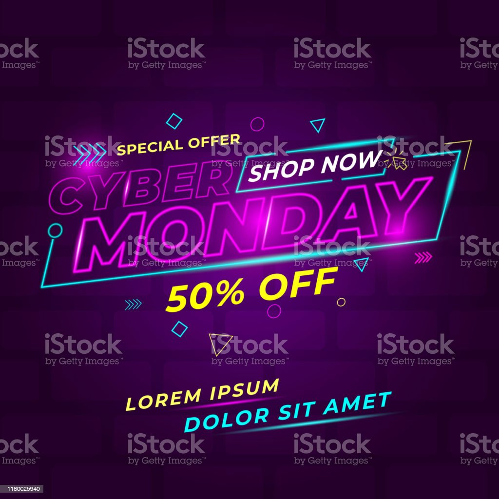 cyber Monday design conceptual cyber Monday design conceptual modern clean and simple, with trend effect design, for promotion Abstract stock vector