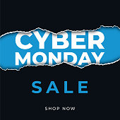 Cyber Monday design for advertising, banners, leaflets and flyers. - Illustration