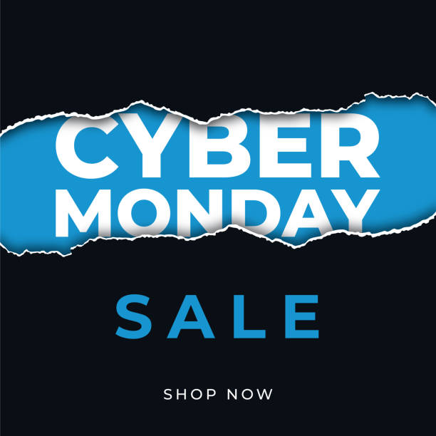 Cyber Monday design for advertising, banners, leaflets and flyers. Cyber Monday design for advertising, banners, leaflets and flyers. - Illustration cyber monday stock illustrations