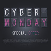 Cyber Monday icon. Banner. Vector image.