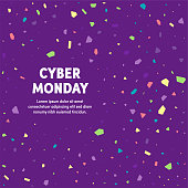 Modern design layout template for cyber monday cover design for web banner or print advertising with abstract background.