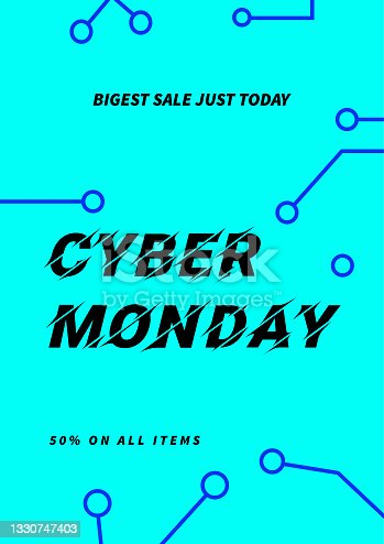 istock cyber monday poster flyer social media post template design 1330747403