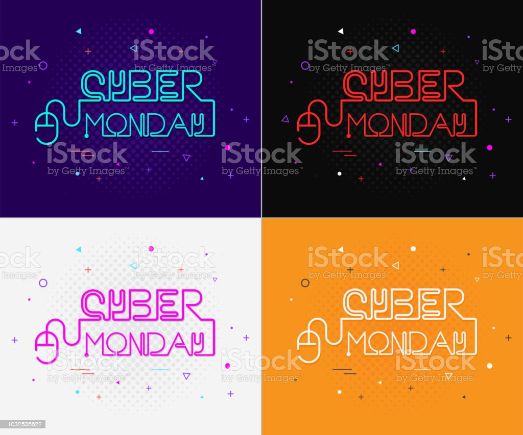 Cyber Monday poster vector illustration Cyber Monday poster vector illustration Abstract stock vector
