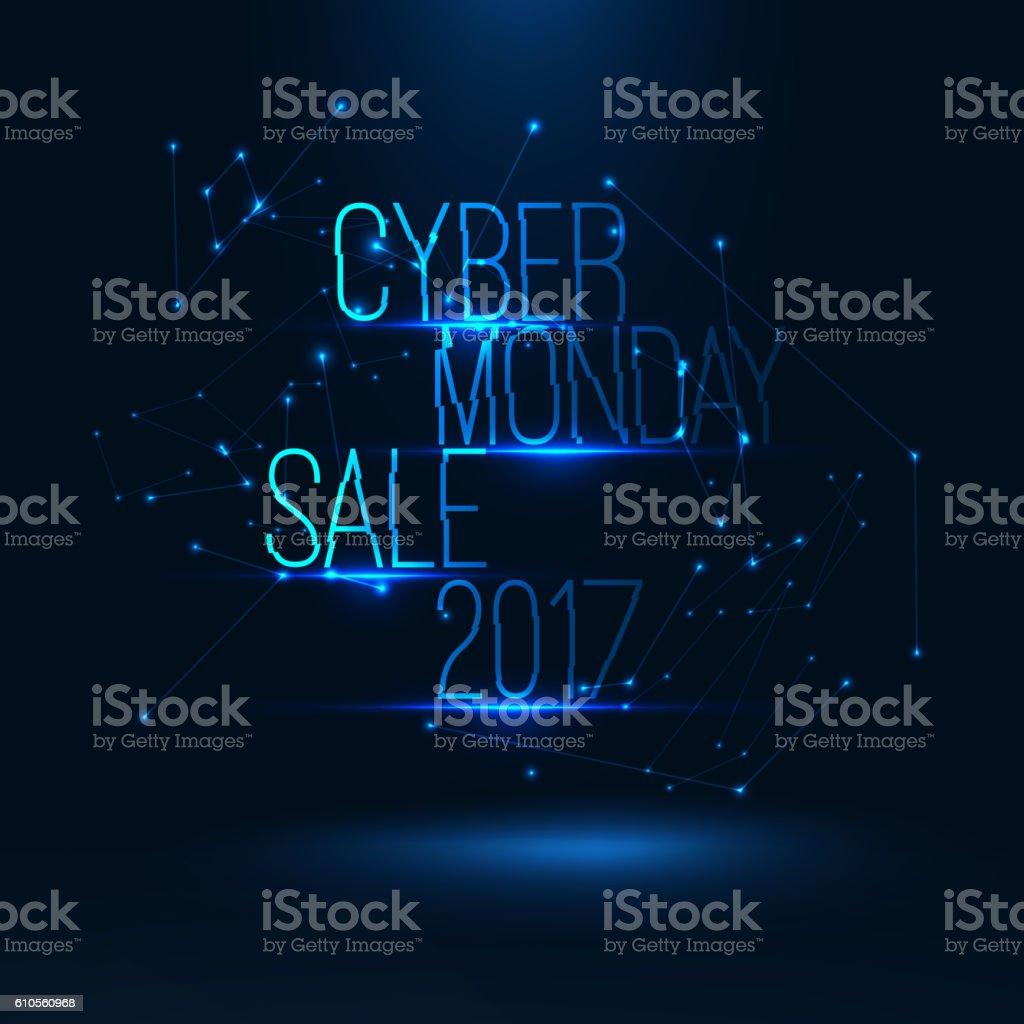 Cyber monday sale 2017 illustration . Big global sale . Geometric...