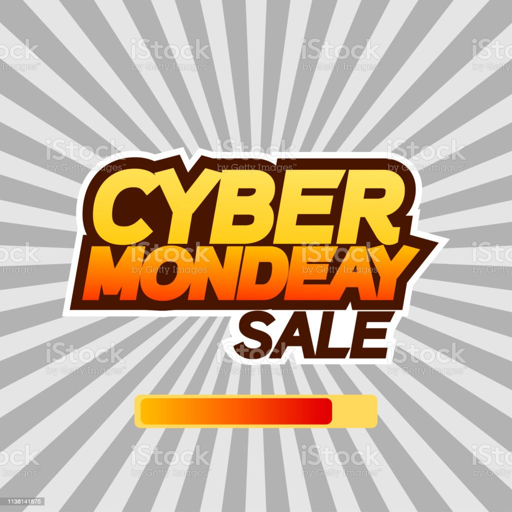 Cyber monday sale banner or poster. Text, Cyber monday sale, on sun...