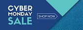 Cyber monday sale. Shop now. Vector banner template
