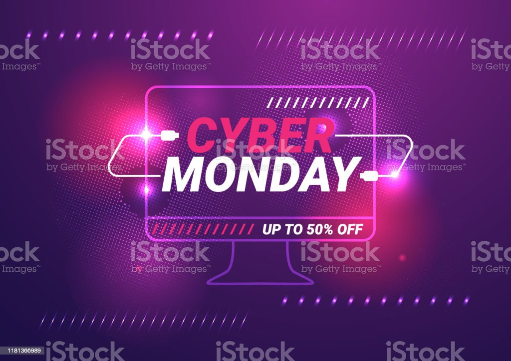 Cyber monday sale template background Cyber monday sale template background Business stock vector