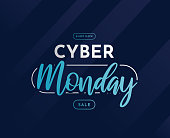 Cyber Monday sale template, banner, background. Vector illustration. EPS10