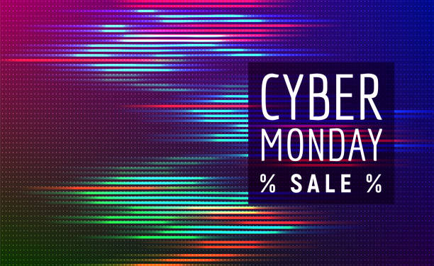 cyber monday sale - cyber monday stock illustrations
