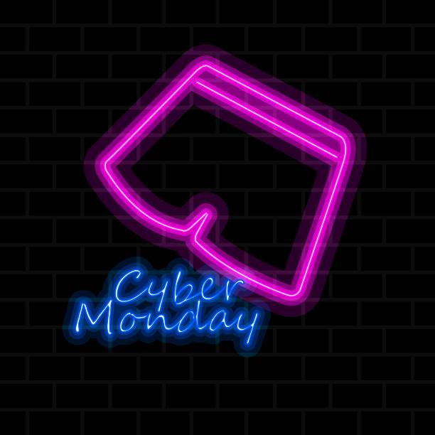 cyber monday verkauf - neonhosen stock-grafiken, -clipart, -cartoons und -symbole