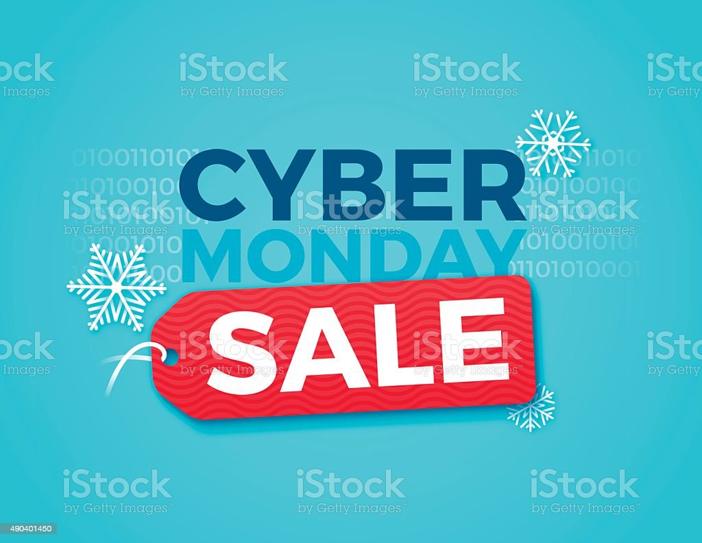 Cyber Monday Sale Cyber monday sale concept with space for copy. EPS 10 file. Transparency effects used on highlight elements. 2015 stock vector
