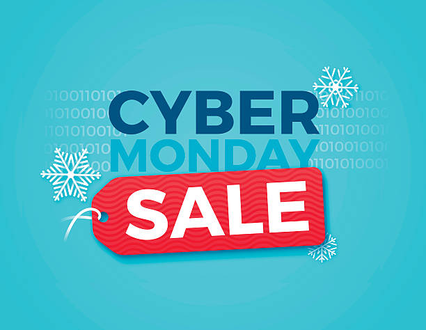 z okazji cyberponiedziałku - cyber monday stock illustrations