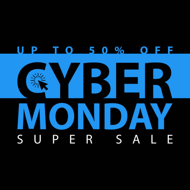 cyber monday super sale poster. clearance mega discount flyer template. big special offer season. vector digital shop banner illustration - cyber monday stock illustrations