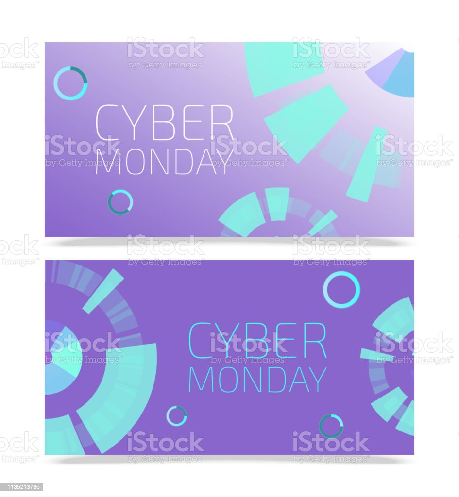 Cyber Monday Templates Vector Illustration Set Of Banners For Online Shopping Thanksgiving Sale Buying Things In Internet With Big Discounts Futuristic Design Good Offers Stock Illustration Download Image Now Istock