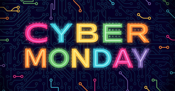 cyber monday - cyber monday stock illustrations