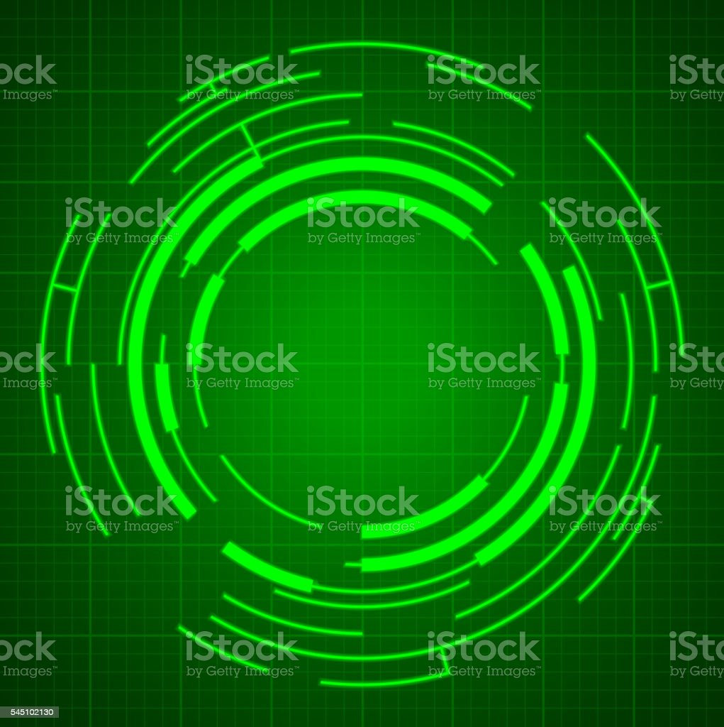 Cyber rings vector art illustration
