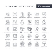 29 Cyber Security Icons - Editable Stroke - Easy to edit and customize - You can easily customize the stroke with