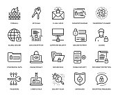 Cyber Security Icon Set - Thin Line Series