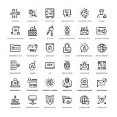 36 Cyber Security Icons - Line Series