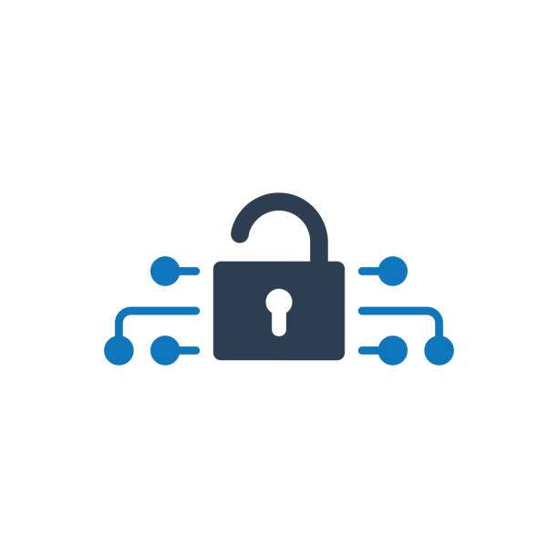 Cyber security icon Simple Illustration Of A  Cyber security icon cybersecurity stock illustrations