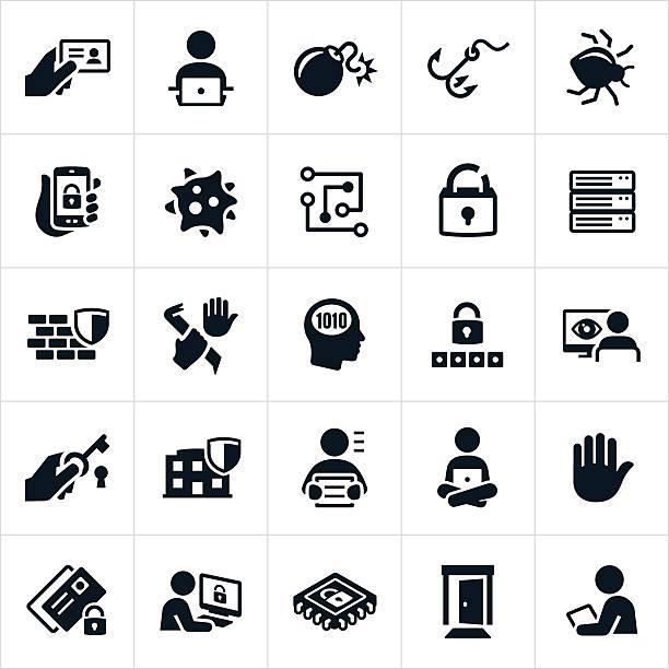 cyber security icons - 玄関点のイラスト素材/クリップアート素材/マンガ素材/アイコン素材