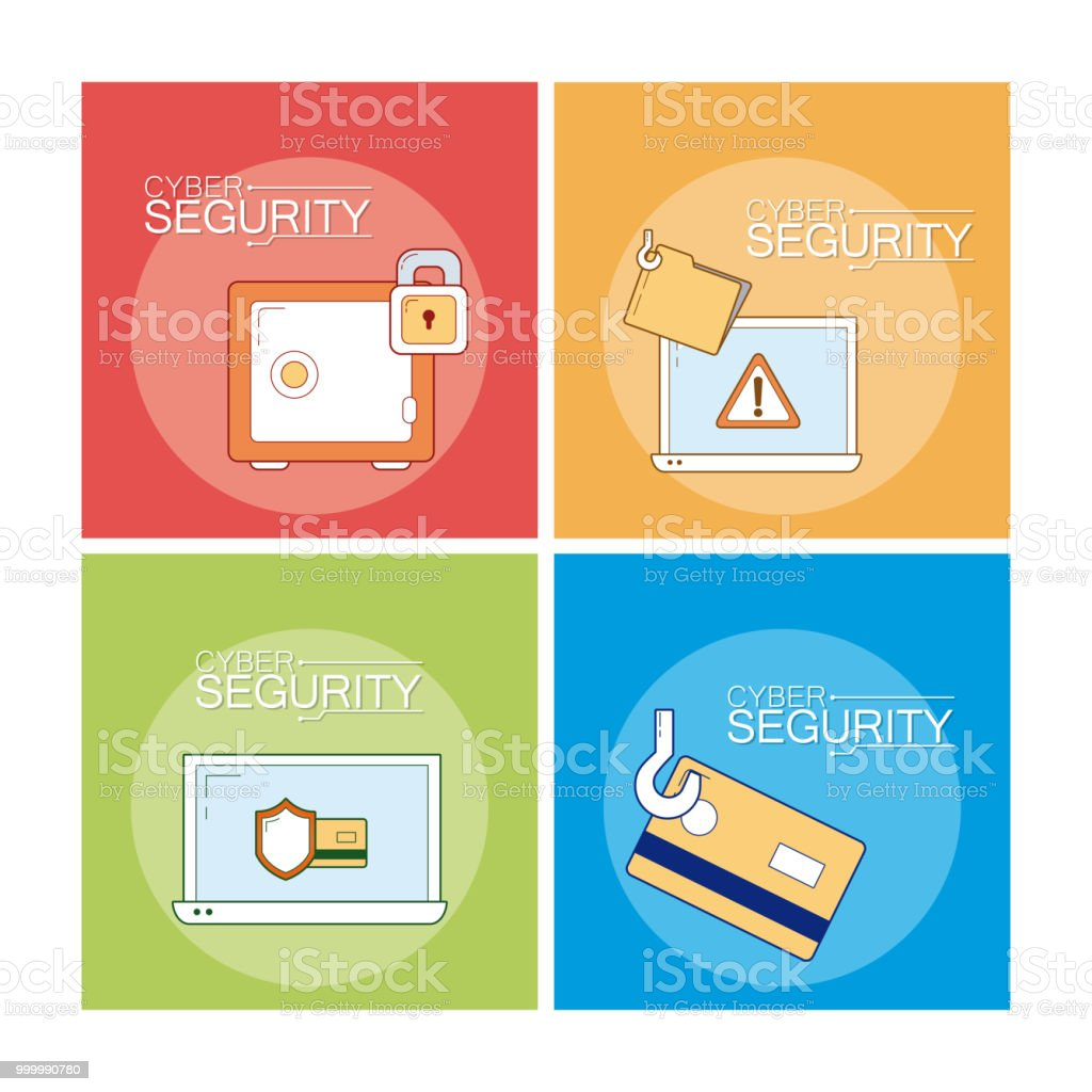 Cyber Security Icons Stock Illustration - Download Image Now - iStock