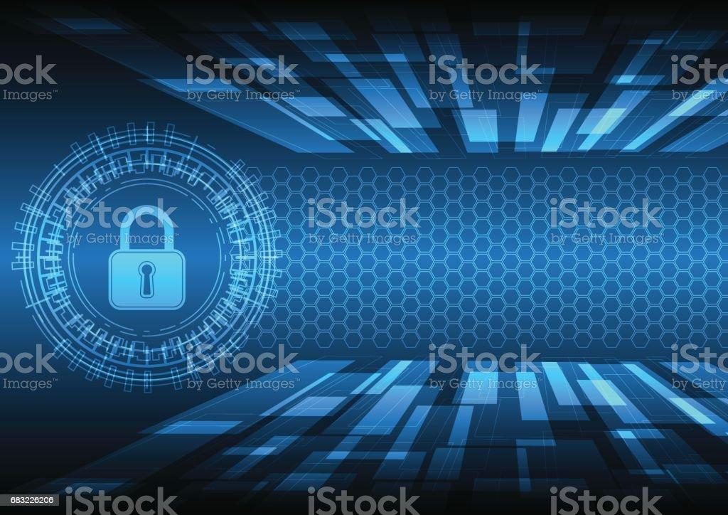 Cyber security master key circle Lizenzfreies cyber security master key circle stock vektor art und mehr bilder von abstrakt