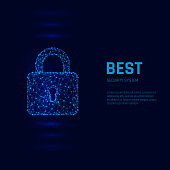 Cyber security system concept. personal data security. Closed Padlock. Vector illustration