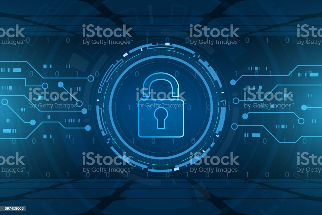 Cyber security technology concept , Shield With Keyhole icon , personal data , vector illustration vector art illustration