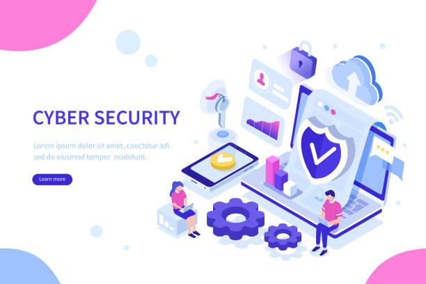 ilustraciones, imágenes clip art, dibujos animados e iconos de stock de seguridad cibernética - robo de identidad