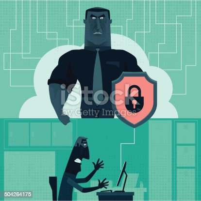 vector illustration of cyber security…