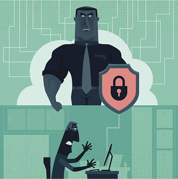 cyber security - identity theft stock illustrations, clip art, cartoons, & icons