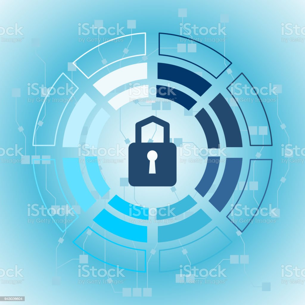 Cyber Technology Security Network Data Protection Stock