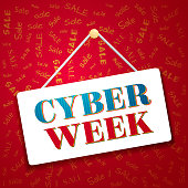 Cyber week banner. Transparency and blend used.