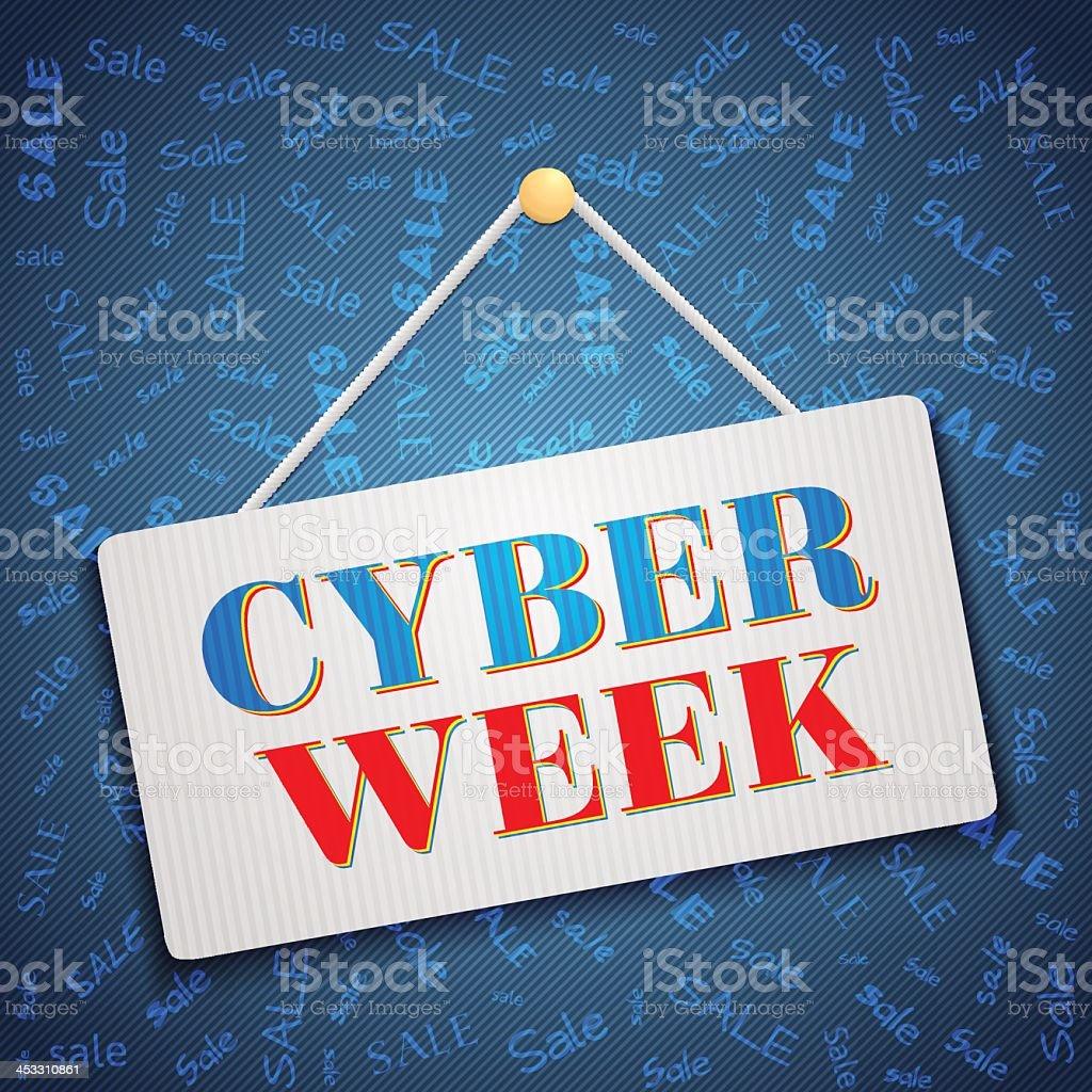 Cyber Week vector art illustration