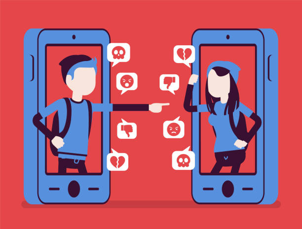 Cyber Bullying Concept Vector Illustration. Smartphone With Hate.. Royalty  Free Cliparts, Vectors, And Stock Illustration. Image 114514450.