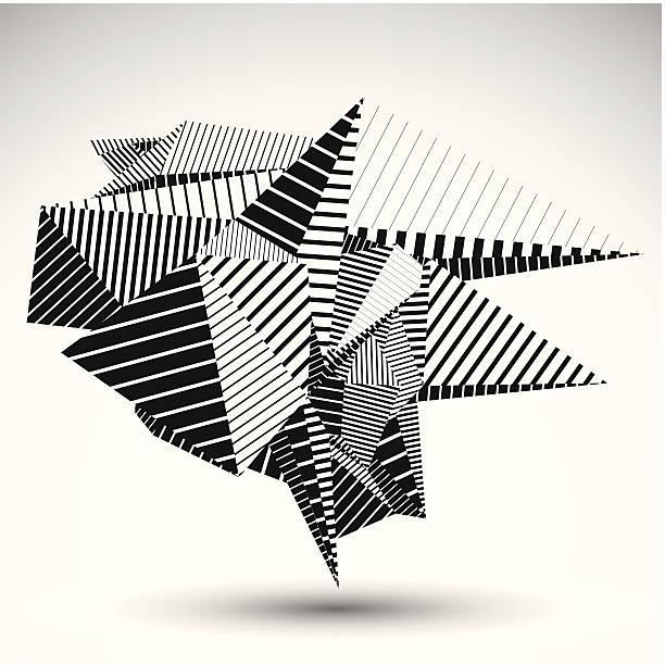 Cybernetic contrast geometric element vector art illustration