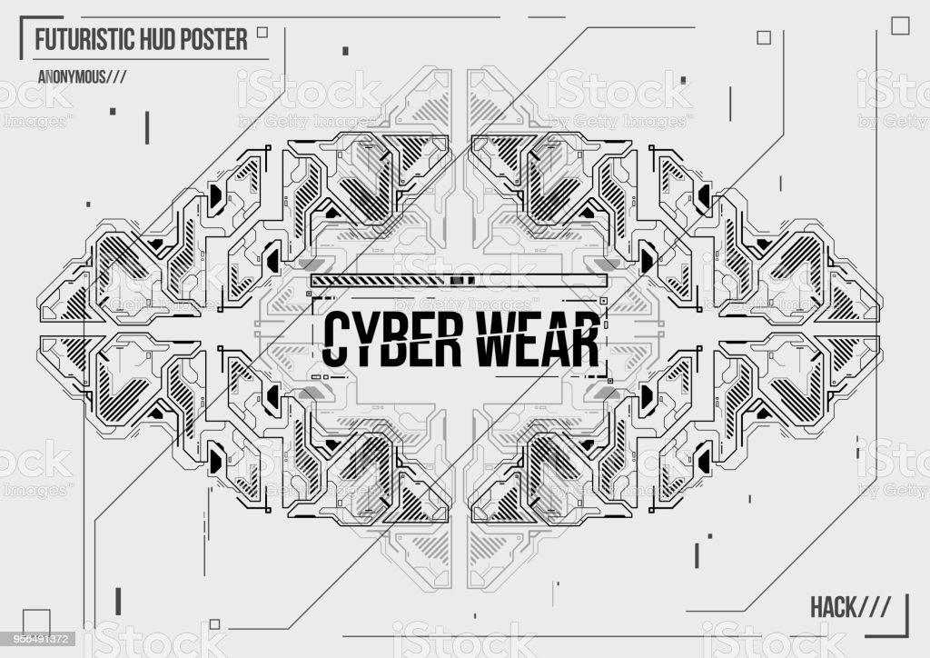 Cyberpunk Futuristische Plakat Retrofuturistischen Plakat Vorlage ...