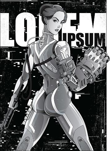 Cyberpunk Manga Poster