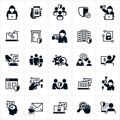Cybersecurity Icons Stock Illustration - Download Image Now
