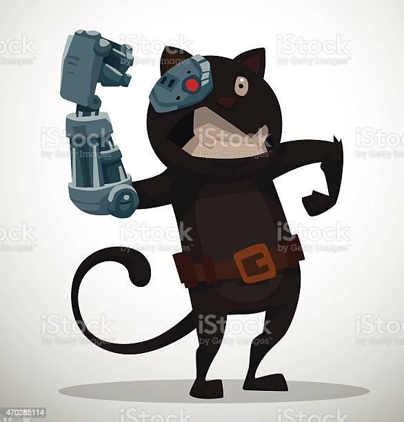 Cyborg cat vector id470285114?b=1&k=6&m=470285114&s=612x612&h=st9epximaojglo40jyp0ylxetvbmi4667jviqmgrjx8=