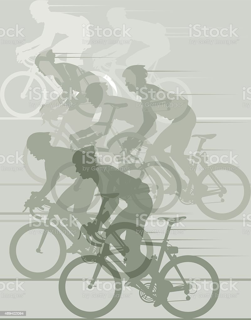 Cycle race illustration vector art illustration