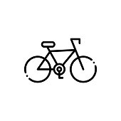 Cycle Vector Icon Line Style Illustration.