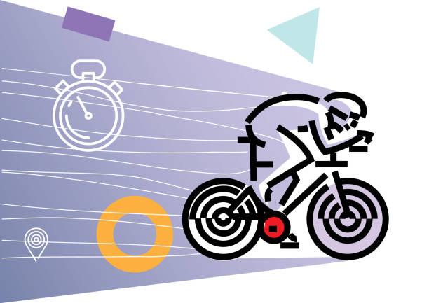 radfahren radfahren. flachen stil - avantgarde stock-grafiken, -clipart, -cartoons und -symbole