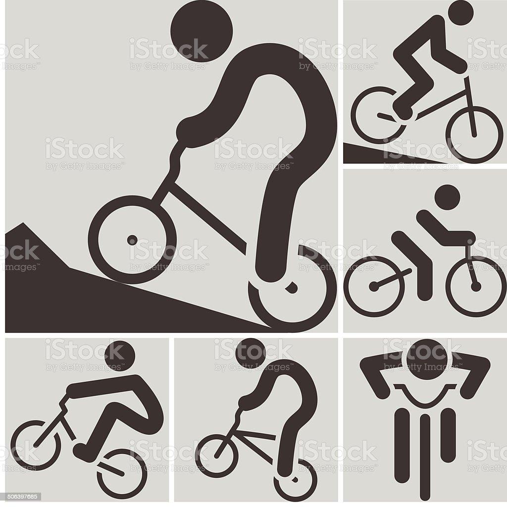 Cycling BMX icon vector art illustration