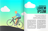 Book or magazine illustration template.