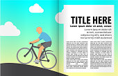 Book or magazine illustration template.