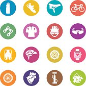Cycling Circle Colour Harmony icons | EPS10